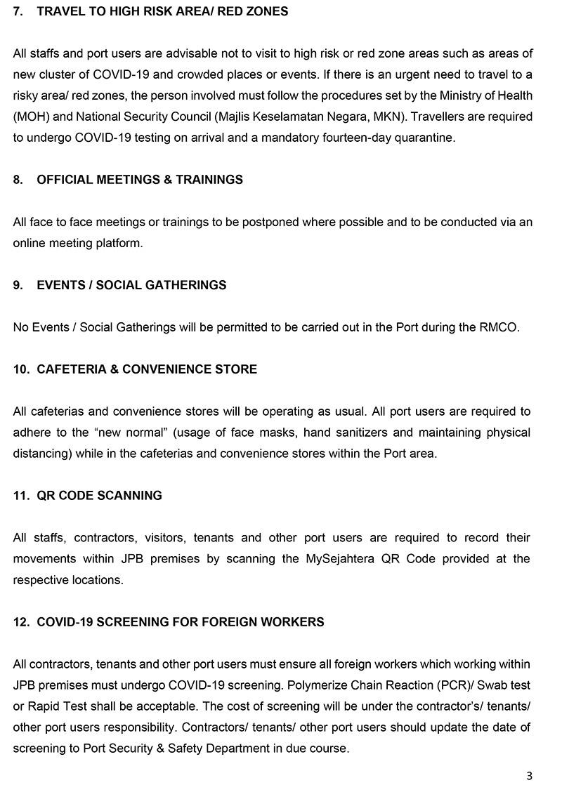 COVID-19 PRECAUTIONARY MEASURES