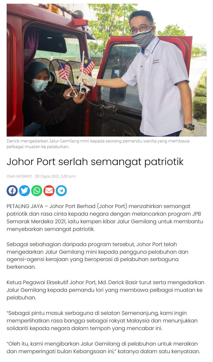 Johor Port serlah semangat patriotik